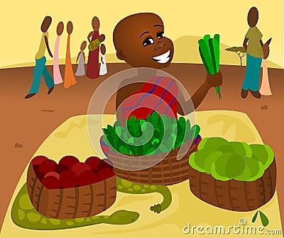 Mercado de la comida