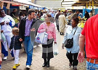 Mercado mojado de Haag de la guarida Imagen de archivo editorial