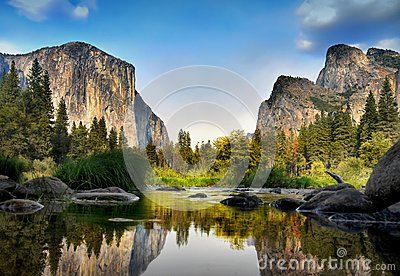 Merced River El Capitan Yosemite National Park