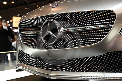 Mercedes Auto Grill at NY International Auto Show Editorial Image