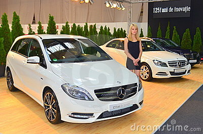 Mercedes B class at the romanian car show Editorial Photo