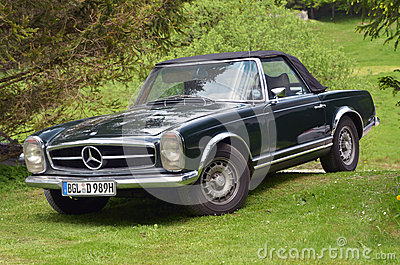 mercedes benz 280 sl cabrio editorial stock image image 24974594. Black Bedroom Furniture Sets. Home Design Ideas