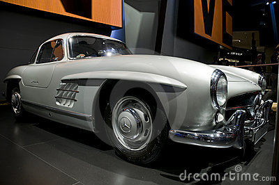 Mercedes Benz 300SL Gullwing At NAIAS Royalty Free Stock Photo - Image: 18471575