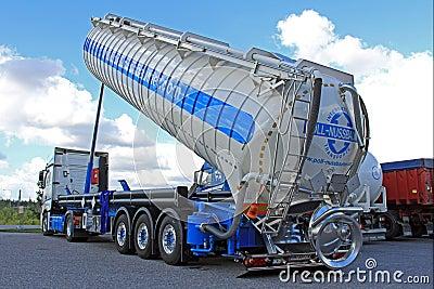 mercedes benz actros silo truck editorial stock image. Black Bedroom Furniture Sets. Home Design Ideas