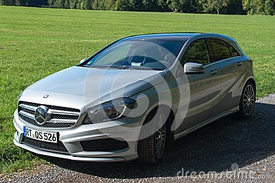 Mercedes Benz A-Class test drive Editorial Photography