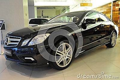 Mercedes-Benz E550 Coupe Editorial Stock Photo
