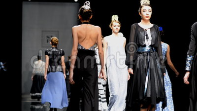 Mercedes-Benz Fashion Day St Petersburg stock video
