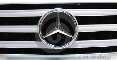 Mercedes benz  logo Editorial Image