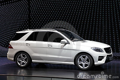 Mercedes Benz M-Class SUV Editorial Stock Image