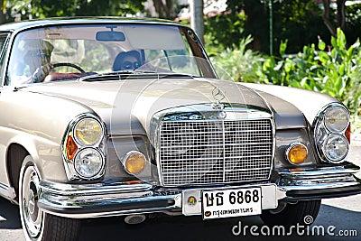 Mercedes-Benz SE Coupe on Vintage Car Parade Editorial Stock Photo