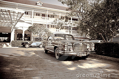 Mercedes Benz SE Coupe on Vintage Car Parade Editorial Stock Photo