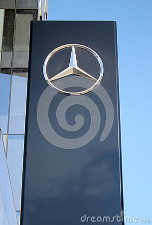 Mercedes benz sign pylon in herzliya israel editorial for Mercedes benz sign in