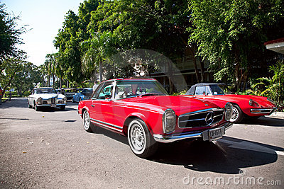 Mercedes Benz SL Pagode on Vintage Car Parade Editorial Image