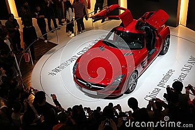 Mercedes-Benz SLS AMG car Editorial Stock Photo