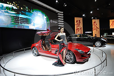 A Mercedes-Benz SLS AMG car Editorial Photo