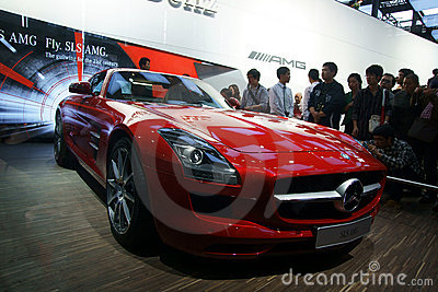 A Mercedes-Benz SLS AMG car Editorial Stock Image