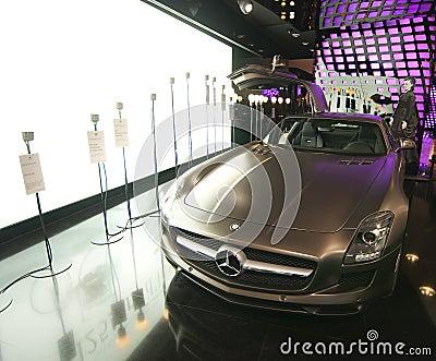Mercedes Benz SLS AMG car Editorial Stock Image