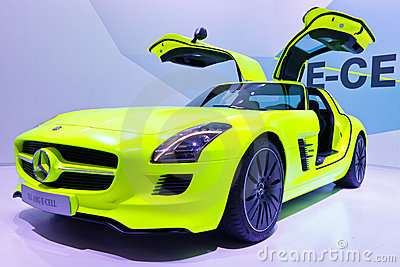 Mercedes-Benz SLS AMG E-CELL Editorial Stock Photo