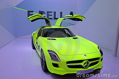 Mercedes Benz SLS E-Cell Editorial Stock Image