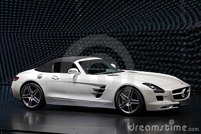 Mercedes Benz SLS Sportscar Editorial Photography