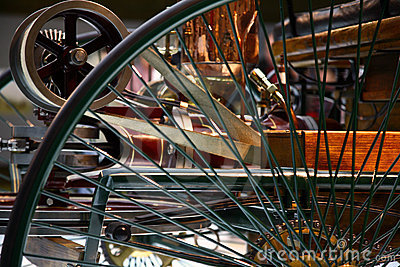 Mercedes benz vintage car wheel detail Editorial Stock Photo