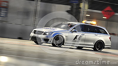 mercedes c63 amg medical car at f1 singapore gp editorial photography image 26773577. Black Bedroom Furniture Sets. Home Design Ideas