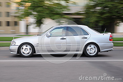 Mercedes car with driver Editorial Stock Image