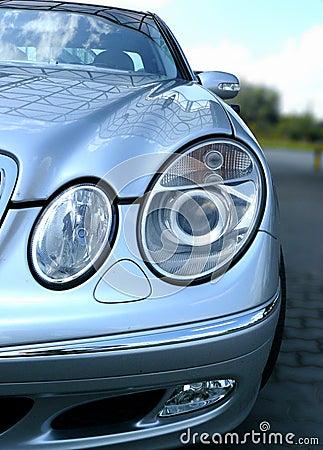 Mercedes car front lights