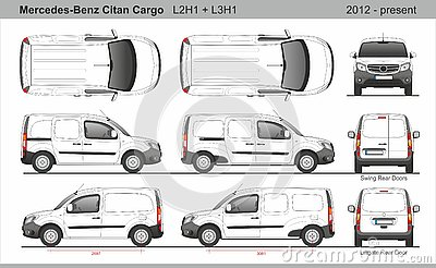 Mercedes Citan Cargo Van L2H1 and L3H1 2012-present Editorial Stock Photo