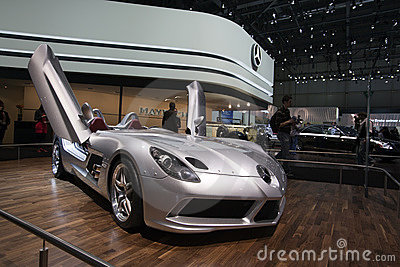 Mercedes McLaren SLR Stirling Moss - Geneva 2009 Editorial Image