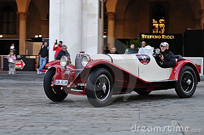Mercedes SKK at 1000 Miglia Editorial Stock Image