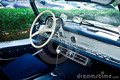 Mercedes SL 300 Gullwing interior Editorial Image