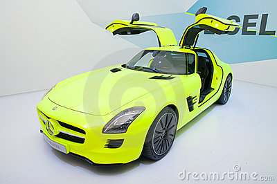 Mercedes SLS AMG E-CELL Editorial Stock Image