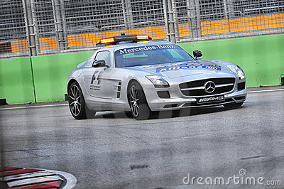 Mercedes SLS AMG Safety car Editorial Image