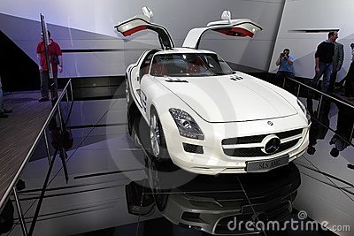 The Mercedes SLS AMG supercar Editorial Photography