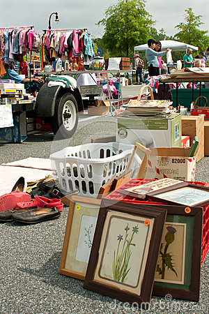Merchandise On Display At Citywide Garage Sale Editorial Photography
