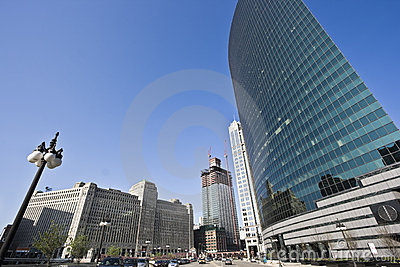 Merchandise Mart - real and reflected