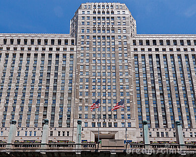 Merchandise Plaza Building Chicago Editorial Stock Photo