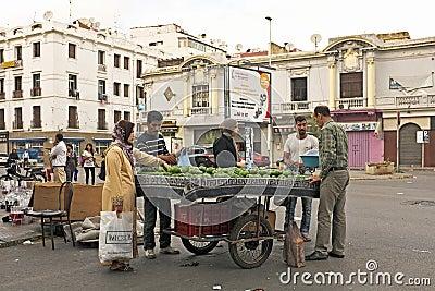Merchant is selling avocados in Casablanca Morocco Editorial Photography