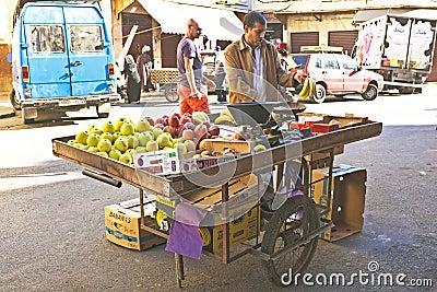 Merchant is selling fruit Casablanca Morocco Editorial Photography