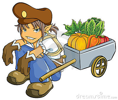 Merchant Selling Vegetables