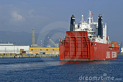 Merchant ship Messina Editorial Photography