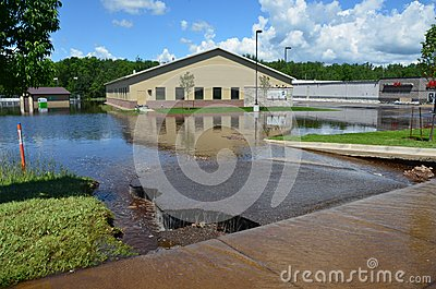 Mercy Wellness Center in Flood Editorial Stock Photo