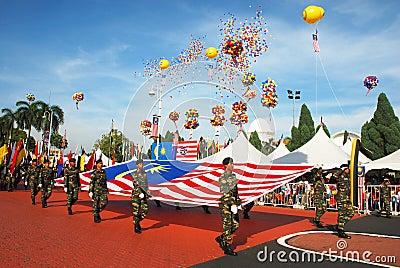 Merdeka Celebration Editorial Stock Photo