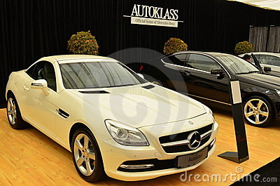 Merdes SLK coupe - SIAMB 2012 Editorial Stock Photo
