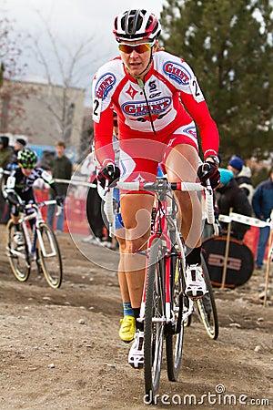 Meredith Miller - Pro Woman Cyclocross Racer Editorial Photo