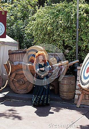 Merida Disney Character Editorial Photography