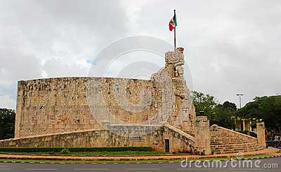 Merida. Monument to the Fatherland, Mexico