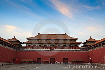 The Meridian Gate. Forbidden City. Beijing, China.
