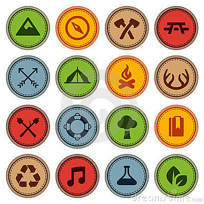 Free Merit Badges Stock Images - 23700264